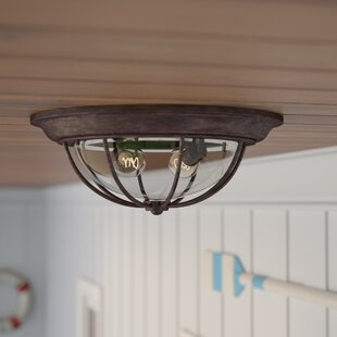 Outdoor flush mount lights youll love carina 2 light outdoor flush mount mozeypictures Gallery