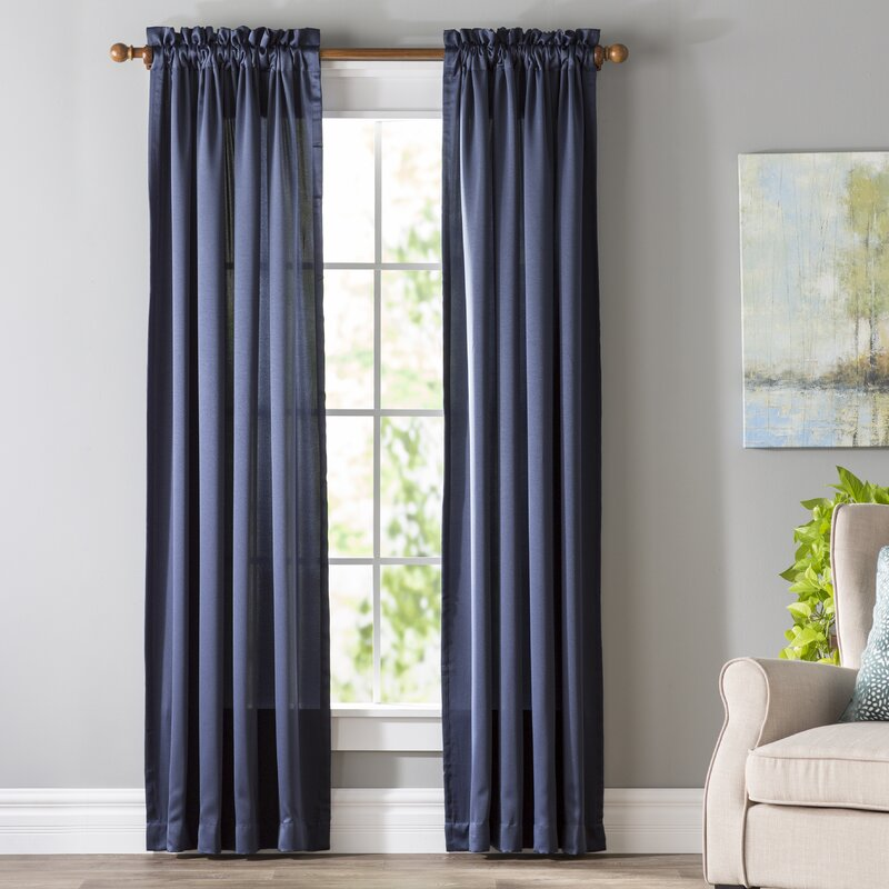living room curtains and drapes. Wayfair Basics Solid Room Darkening Rod Pocket Single Curtain Panel Curtains  Drapes You ll Love
