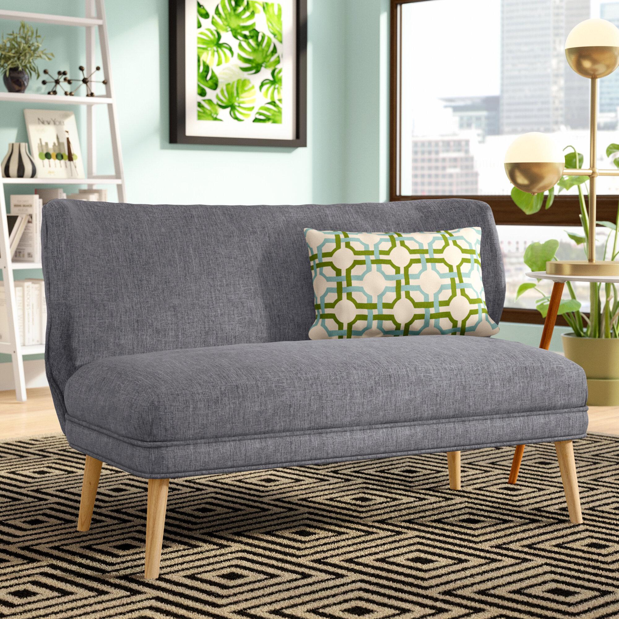 Langley street raleigh fabric settee reviews wayfair