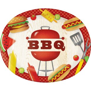 BBQ Time Oval Paper Dinner Plate (Set of 24)  sc 1 st  Wayfair & Oval Disposable Plates u0026 Bowls Youu0027ll Love | Wayfair