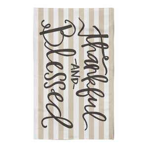 Payden Thankful and Blessed Tan/White Area Rug