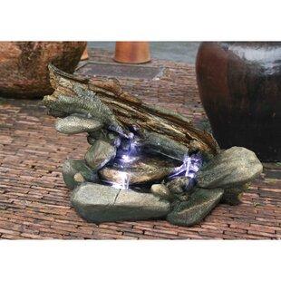 Resin Garden Fountain Sculpture With LED Light