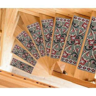 Baynes Modern Design Non Slip Rubber Backed Gray Stair Tread (Set Of 7)