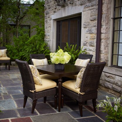 Somerby 5 Piece Sunbrella Dining Set With Cushions