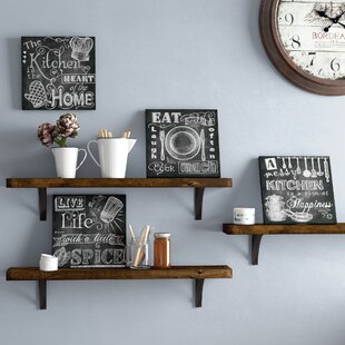 U0027Beautiful, Fun, Chalkboard Kitchen Signs; Messy Kitchen, Heart Of The  Home, Spice Of Life, And Cook Muchu0027 4 Piece Framed Graphic Art Print Set  (Set Of 4)