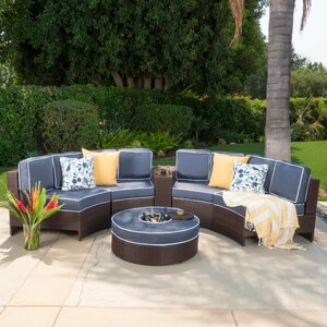 Daniela 6 Piece Sectional Set with Cushions