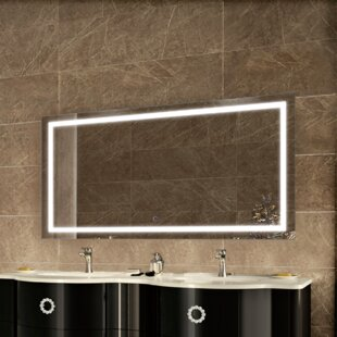 Mirrors with lights youll love wayfair ries led lighted wall mirror aloadofball Images