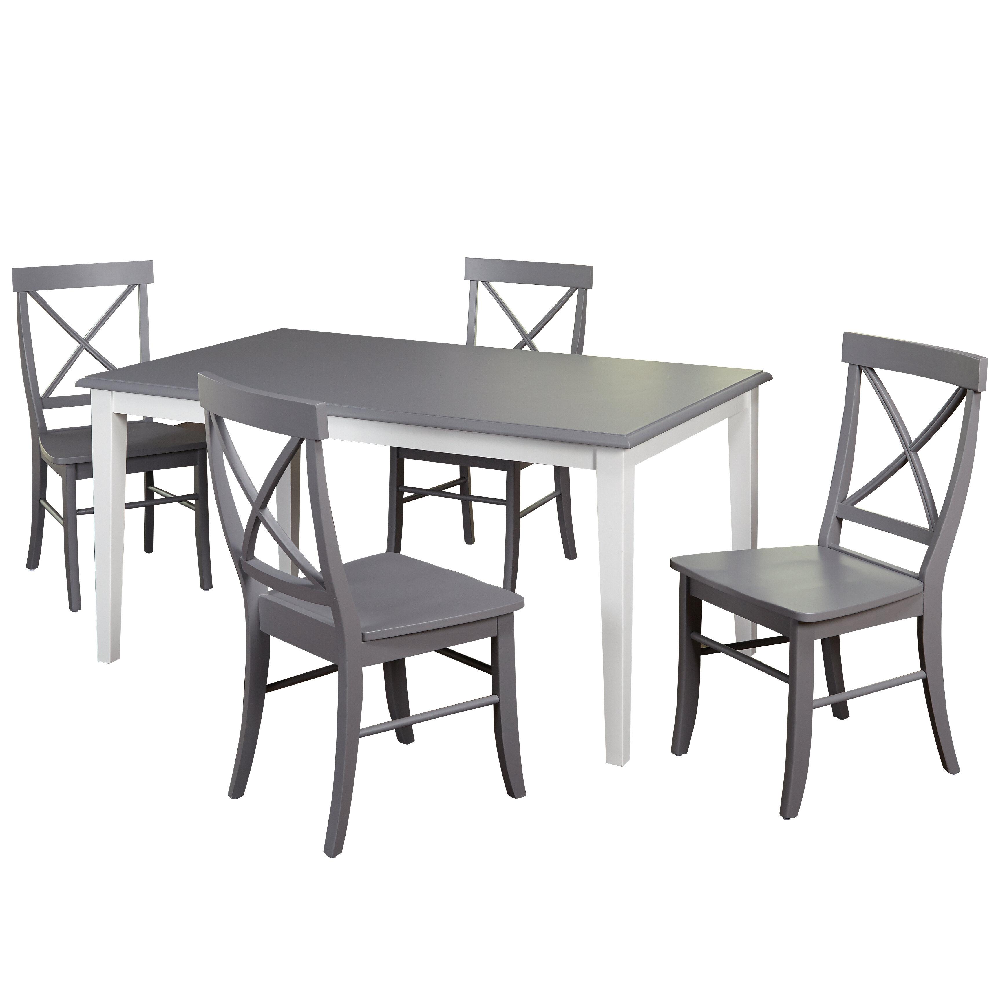 Beachcrest Home Lehigh Acres 5 Piece Dining Set U0026 Reviews   Wayfair