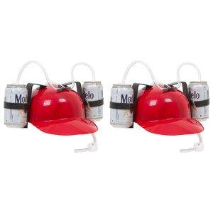 Beer and Soda Helmet Drinking Hat (Set of 2)