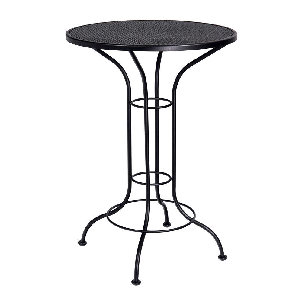 Superieur Woodard Bar Height Outdoor Round Mesh Top Wrought Iron Bar Table U0026 Reviews  | Wayfair
