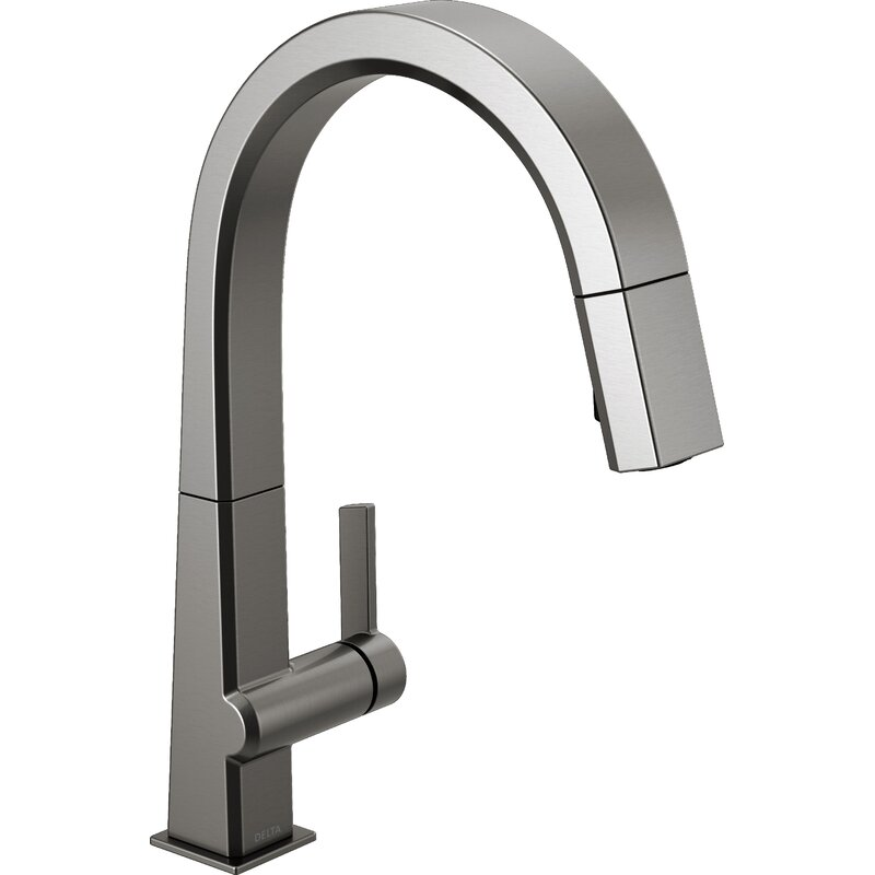 Delta Single Handle Pull Down Kitchen Faucet Reviews Wayfair