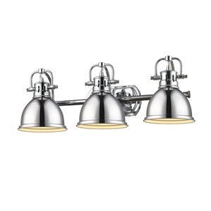 Bathroom Vanity Lights With Clear Glass Shades clear & glass shade bathroom vanity lighting you'll love | wayfair