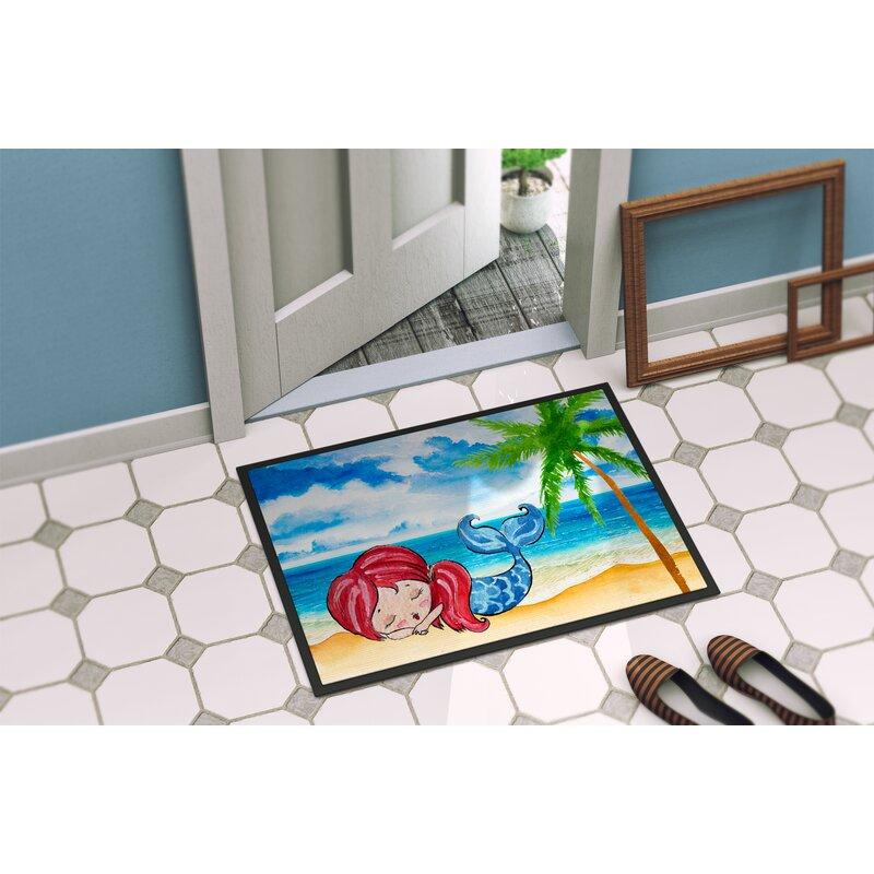 Mermaid On The Beach Doormat