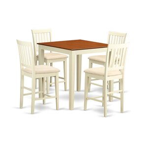 Givens 5 Piece Counter Height Pub Table Set by Three Posts
