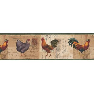 Driffield Rooster Chicken On Postcard 7 L X 180 W Wildlife Wallpaper Border