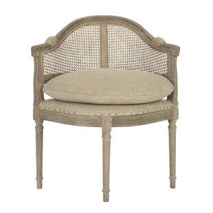 Blue Cane Back Barrel Chair