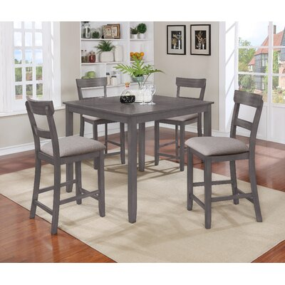 Alcott Hill Reeves 5 Piece Counter Height Dining Set Reviews Wayfair