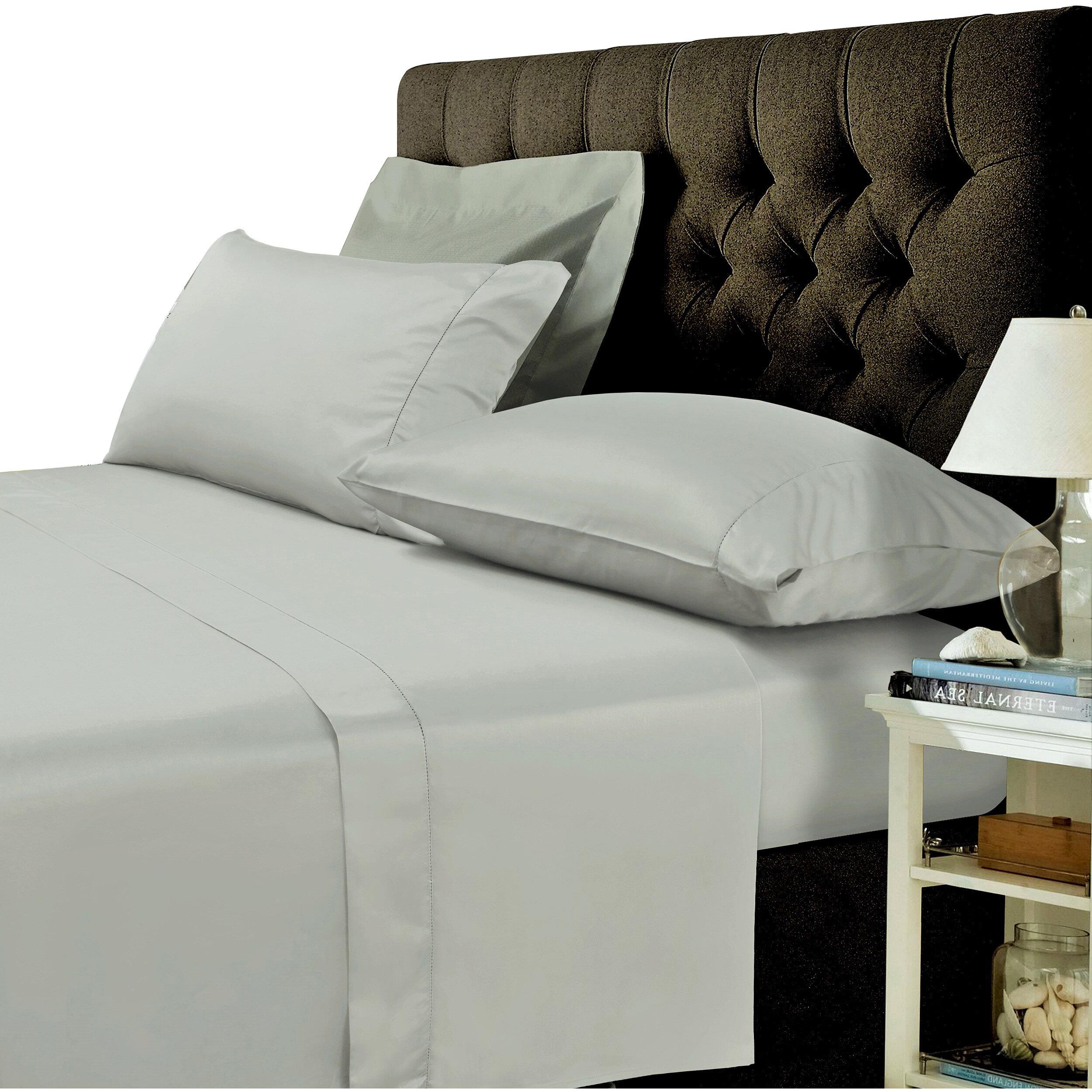Tribeca Living 400 Thread Count Egyptian Quality Cotton Sheet Set U0026 Reviews  | Wayfair