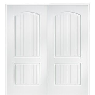 Cashal Smooth Surface Solid Panelled Prehung Interior Double Door