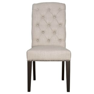 Mcghee Wooden Upholstered Dining Chair (Set of 2)