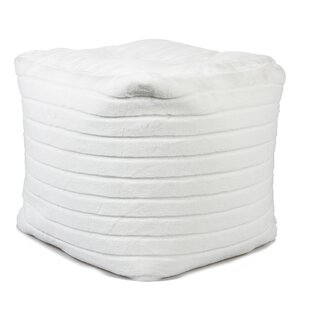 White Faux Fur Bean Bag Chair