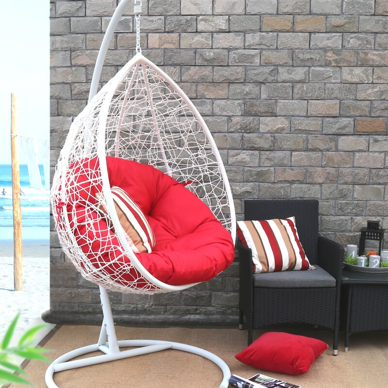 Oval Egg Hanging Patio Swing Chair