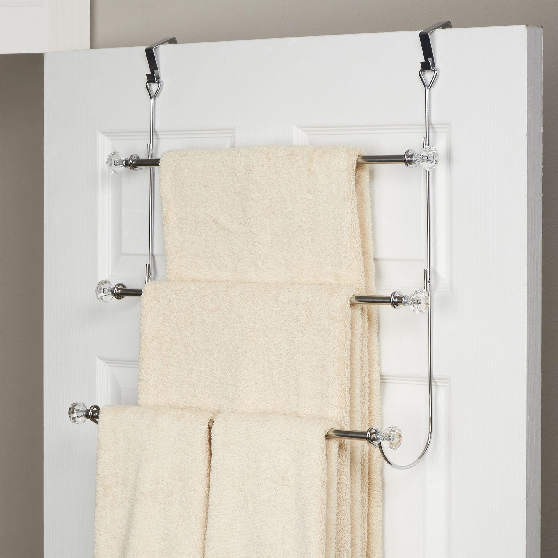 Wayfair Basics 3 Tier Over The Door Towel Rack Reviews