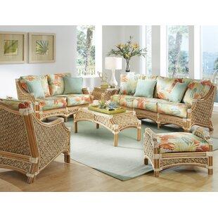 rattan living room furniture bamboo schmitz piece living room set wicker rattan wayfair