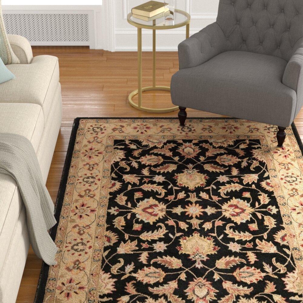 Charlton home cranmore black area rug reviews wayfair