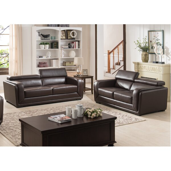 AC Pacific Calvin 2 Piece Leather Living Room Set U0026 Reviews | Wayfair Part 69