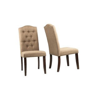 Button Tufted Dining Chair Wayfair - Curves-button-back-chair-in-chocolate-brown-and-green