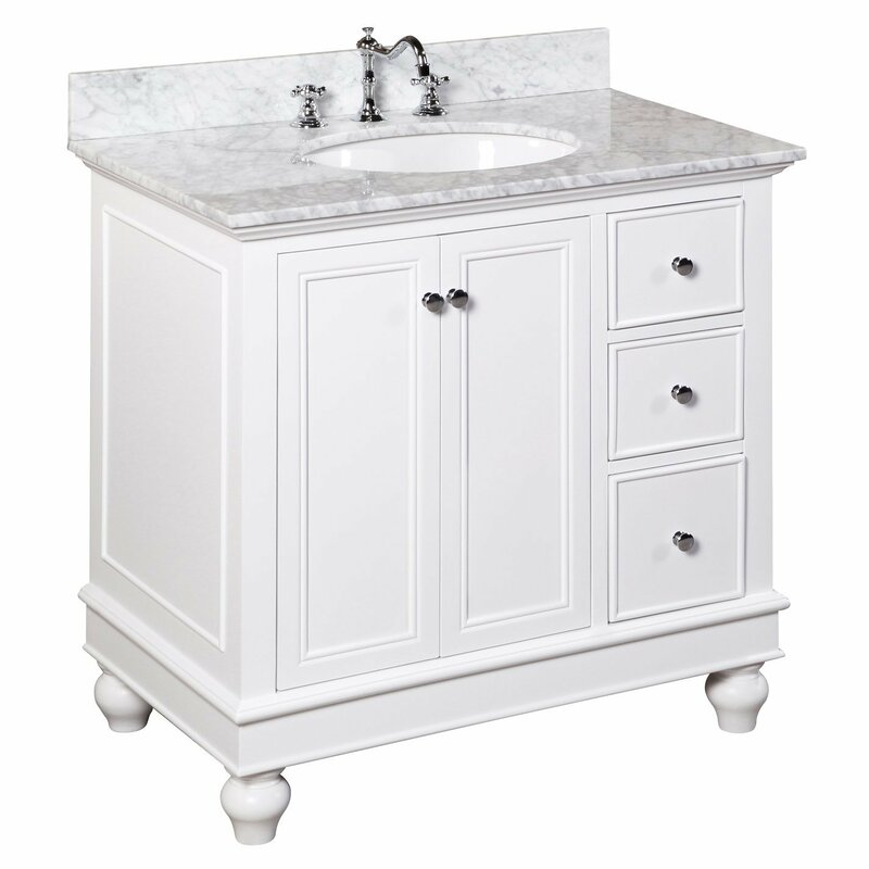 "kbc bella 36"" single bathroom vanity set & reviews 