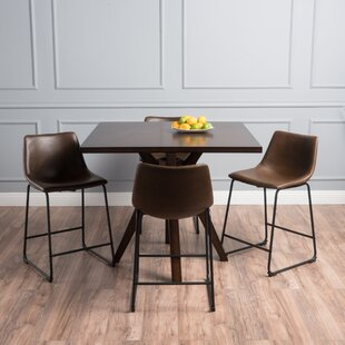 Maclin Faux Wood Square 5 Piece Dining Set