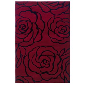 Carina Red/Black Area Rug