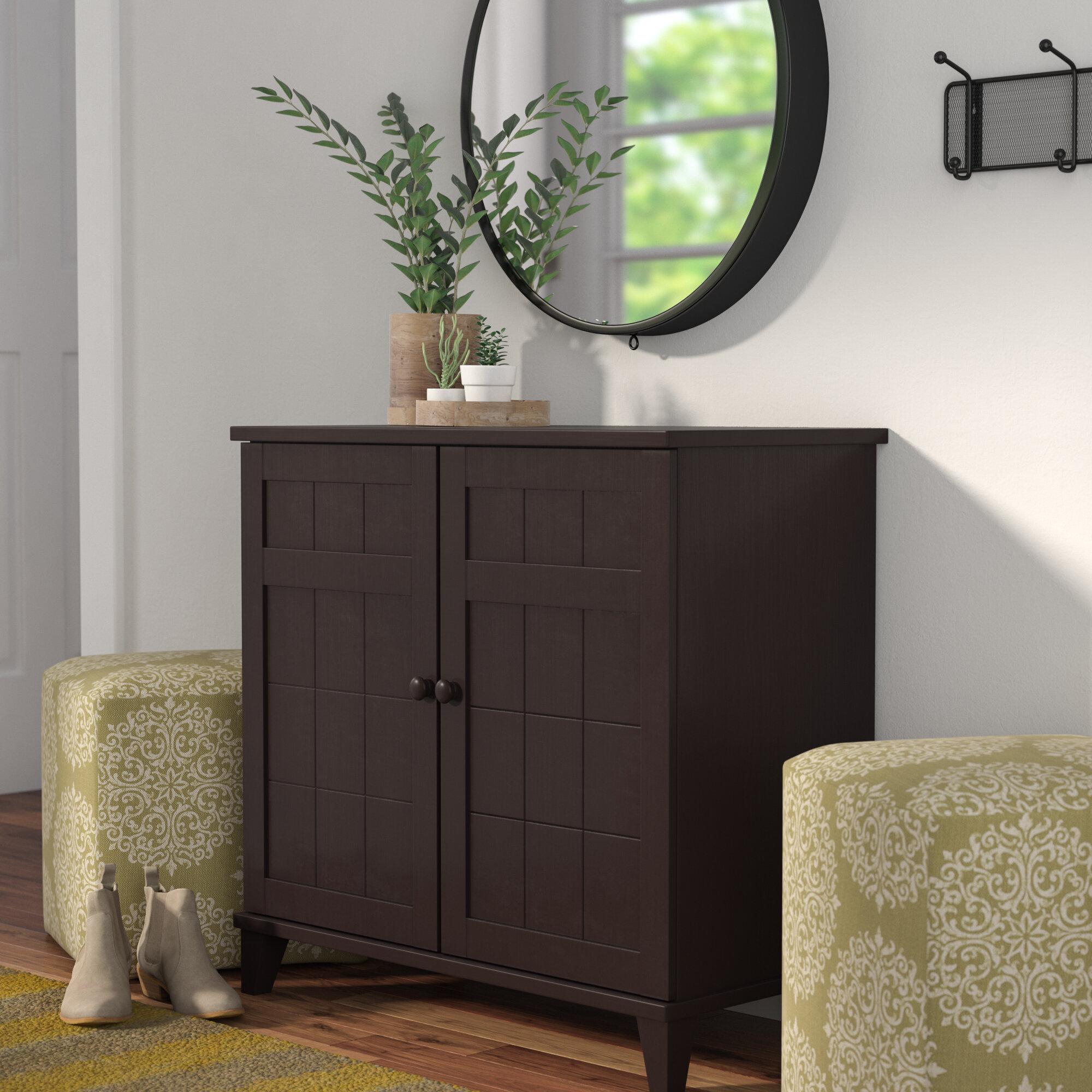 Zipcode Design 12 Pair Wood Shoe Storage Cabinet Reviews Wayfair