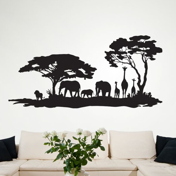 style and apply african savannah ii wall decal & reviews | wayfair.ca