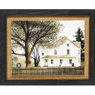 U0027Grandmau0027s House Primitive Country Farm Landscapeu0027 By Billy Jacobs Framed  Graphic Art