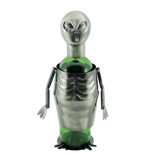 Maude UFO Alien Metal 1 Bottle Tabletop Wine Bottle Rack