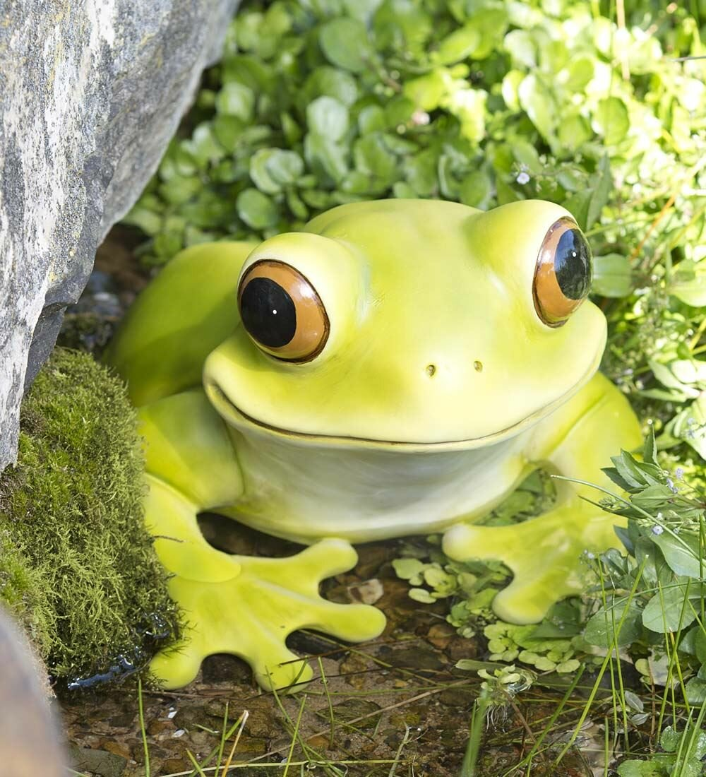 Wind & Weather Peeping Frog Sculpture | Wayfair