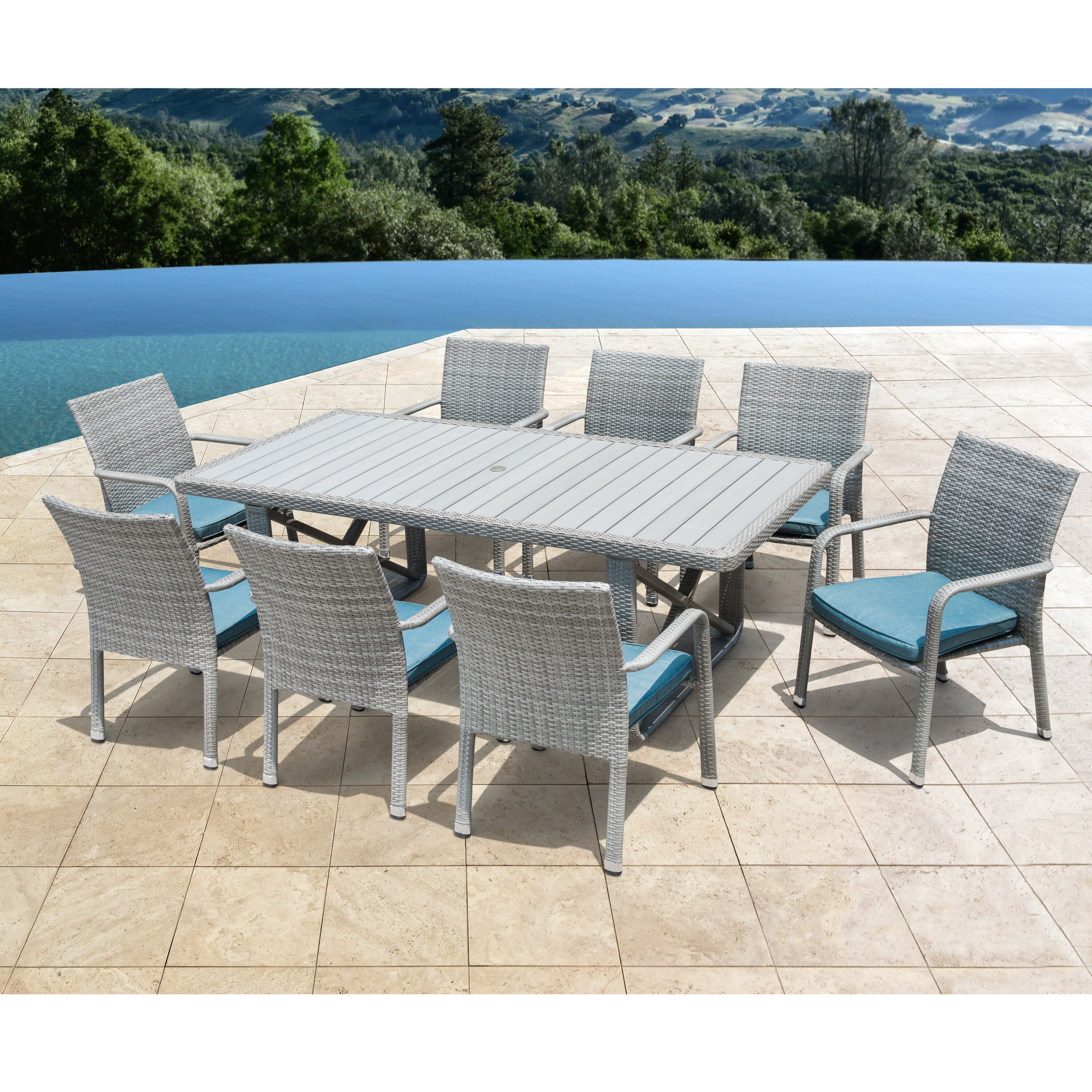 amish great piece set patio made poly dining bay