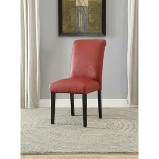 Ellettsville Upholstered Rolled Back Dining Chair (Set of 2)