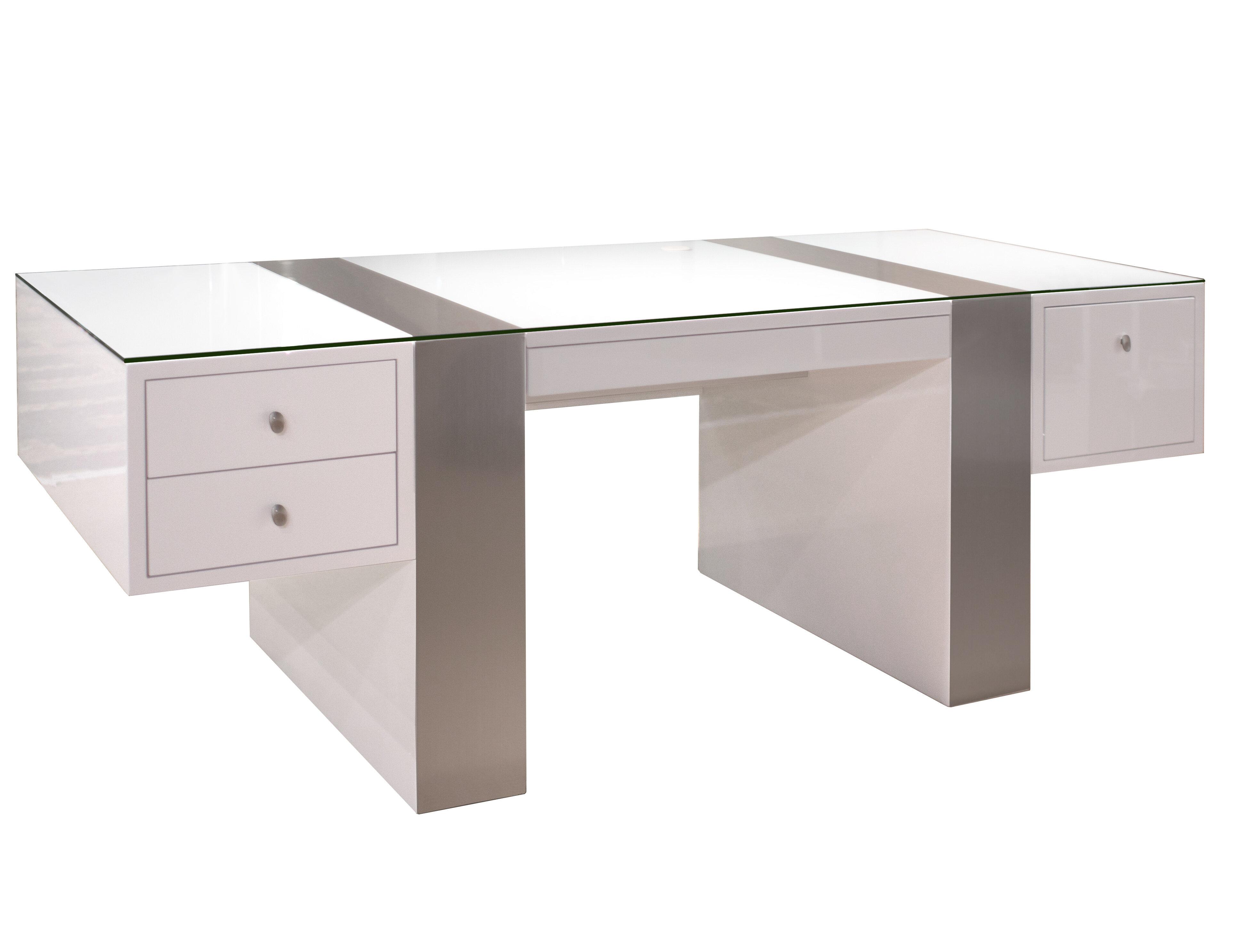 Gentil Newcomb Glass Executive Desk