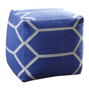 Zavala Lattice Square Pouf Ottoman by Brayden Studio