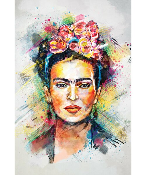 East Urban Home Frida Kahlo Graphic Art Print On Wrapped