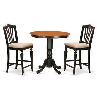 Jackson 3 Piece Counter Height Pub Table Set