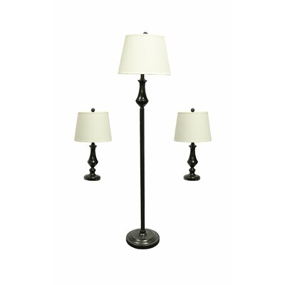 Grant 3 piece table and floor lamp set
