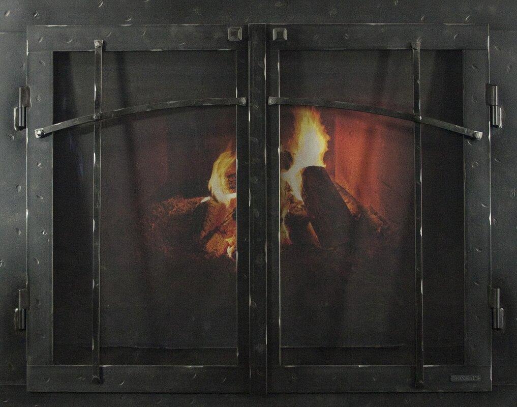Ironhaus mountain series fireplace glass door reviews wayfair mountain series fireplace glass door planetlyrics Gallery
