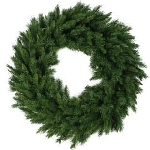 Lush Mixed Pine Artificial Christmas PVC Wreath