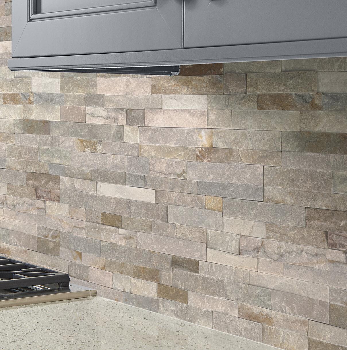 Msi Golden Honey Random Size Natural Stone Splitface Tile In White Wayfair