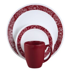 Livingware Bandhani 16 Piece Dinnerware Set, Service for 4